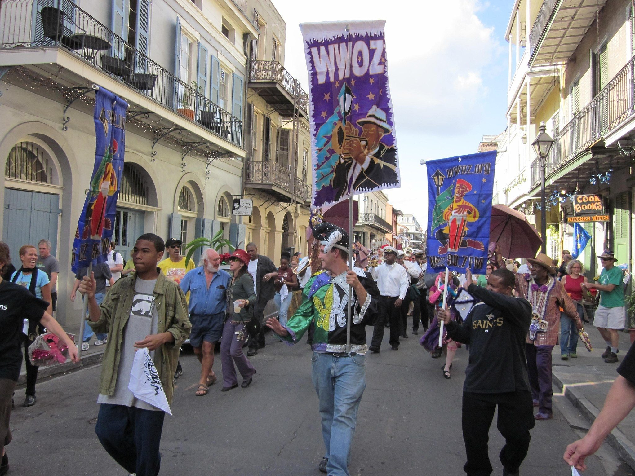 wwoz_30th_birthday_parade_banners_cook_books-6907945