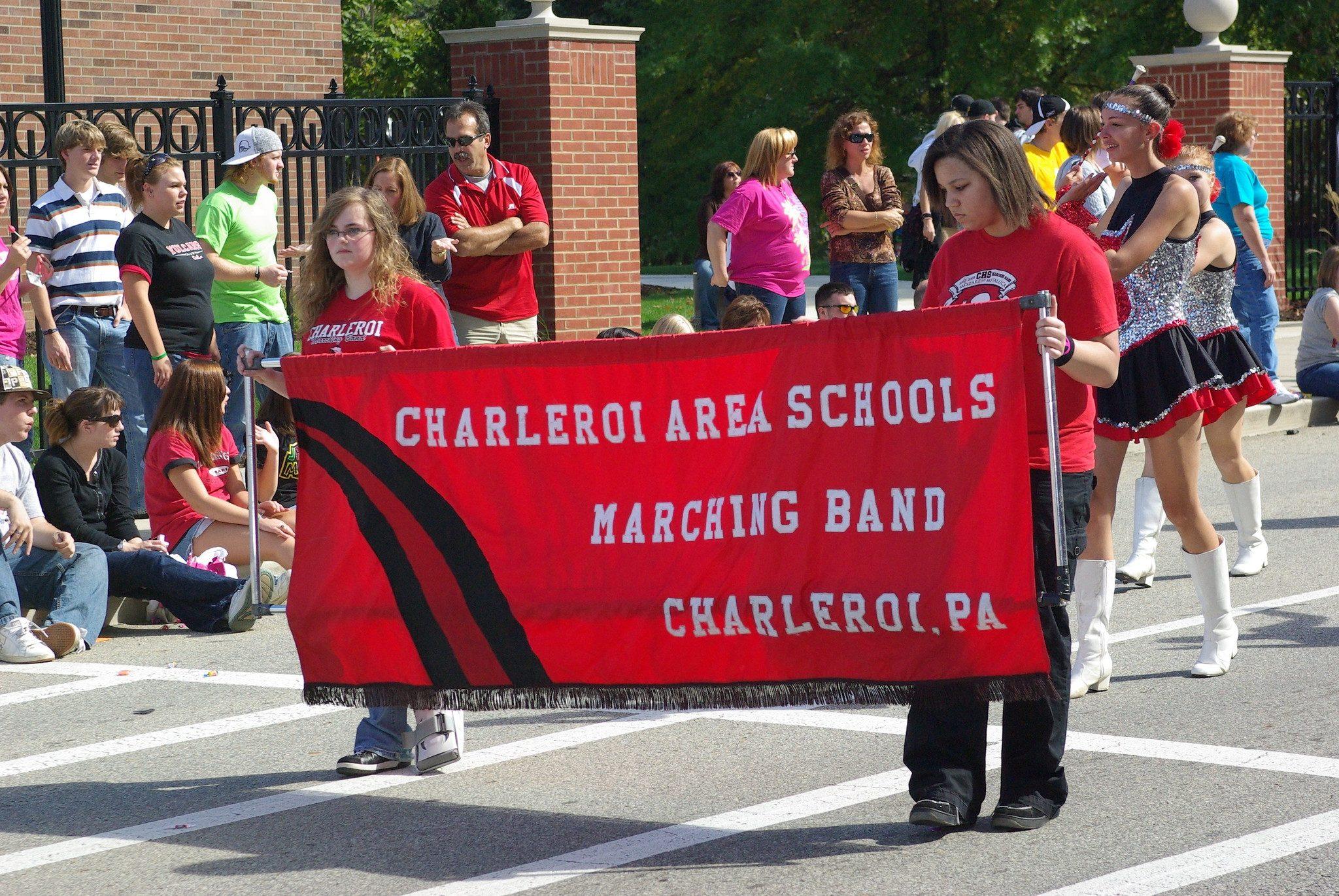 school-banner-parade