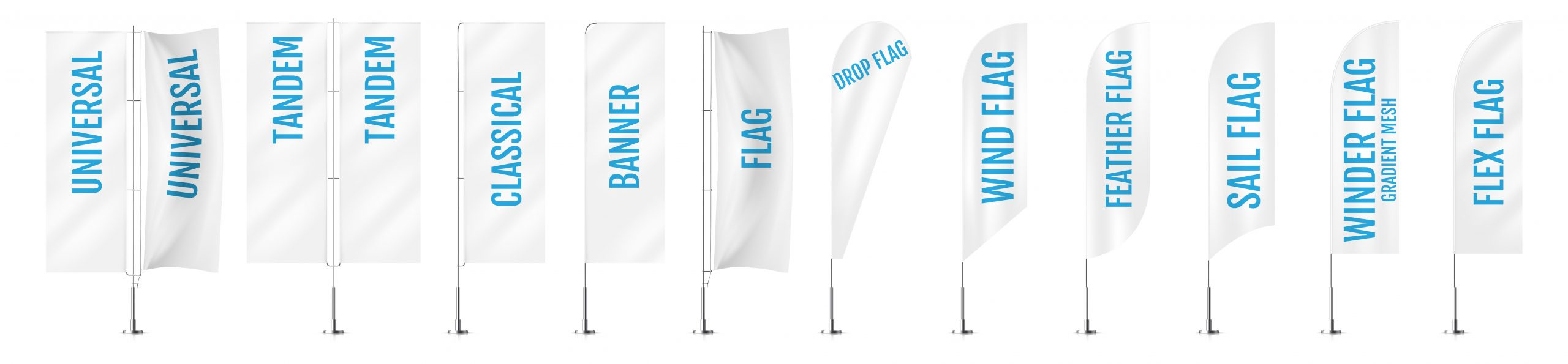 Different kinds of Outdoor Flag Banners