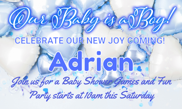 Celebration- Our Baby is a Boy