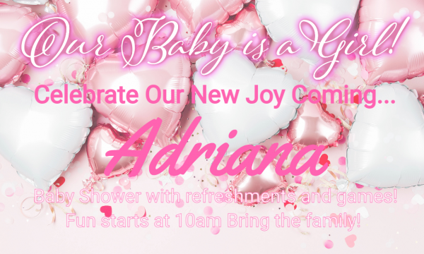 Celebration- Our Baby is a Girl