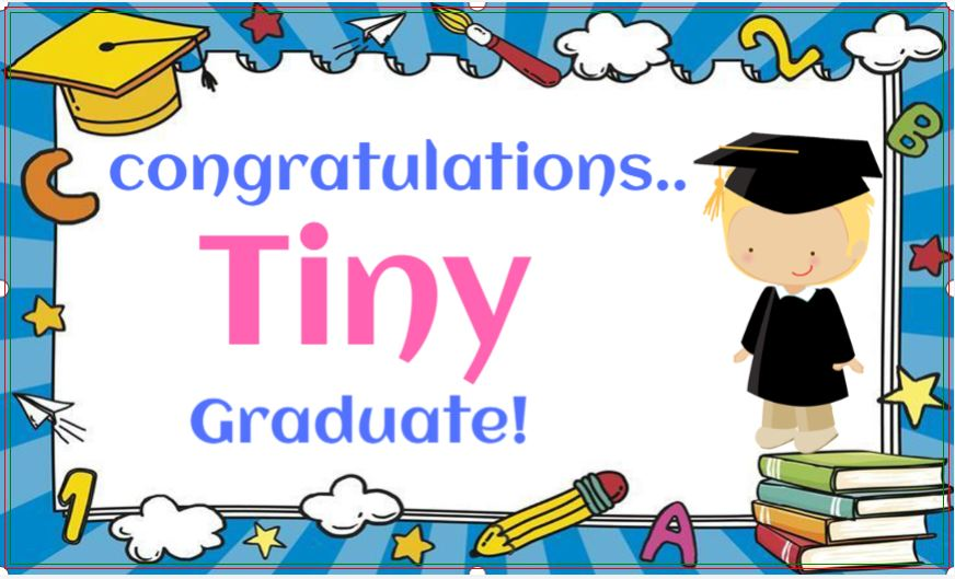 I Graduated From Pre School Graduation Banners