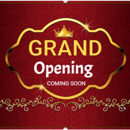 Grand Opening Banner Maroon