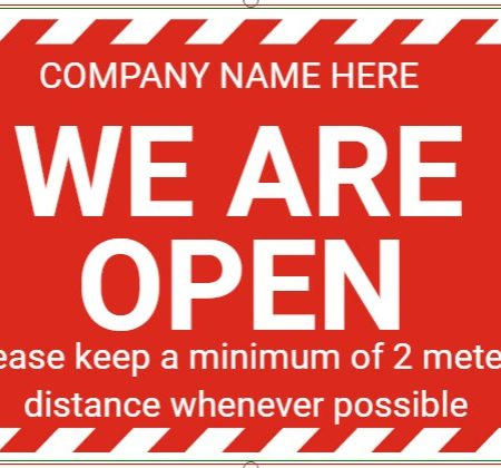 Welcome We Are Open!