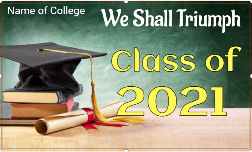Congrats Class of 2021 - Inspirational Graduation Banner Template