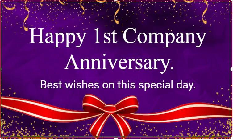 Happy Company Anniversary!
