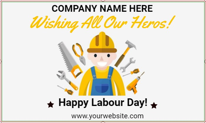 Wishing All Our Heros! Happy Labour Day!