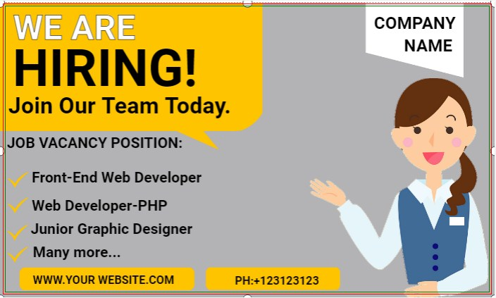 We Are Hiring! Join Our Team Today.