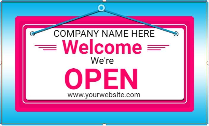 Welcome We're Open!