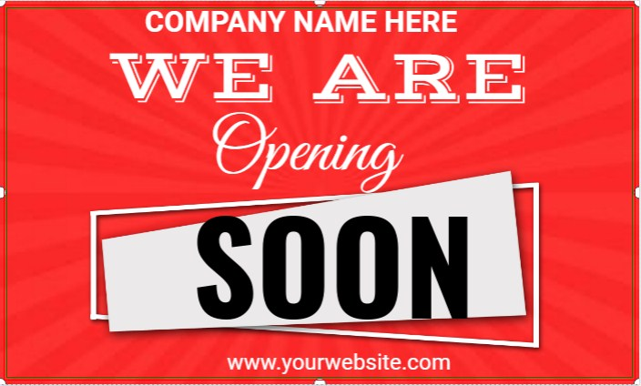 We Are Opening Soon!
