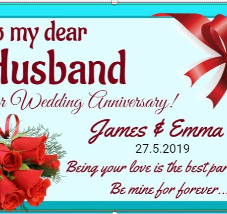 Happy Anniversary To My Loving Husband