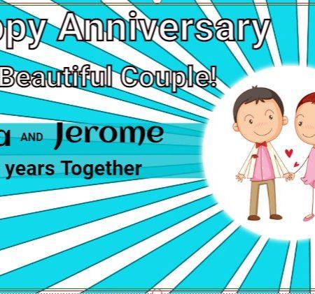 Happy Anniversary To Beautiful Couple!