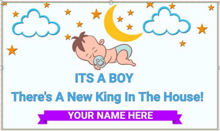 It's A Boy! There's A New King In The House!