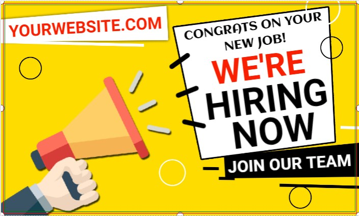 We're Hiring Now! CONGRATS ON YOUR NEW JOB.