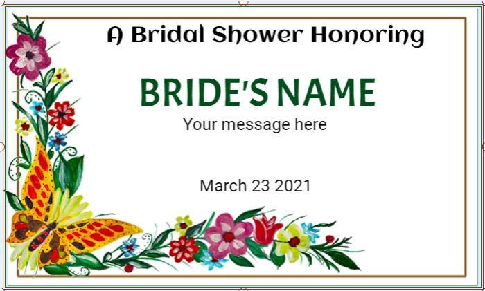 Floral Bridal Shower Honoring Banner !