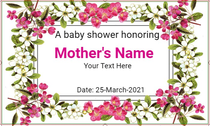 Floral A Baby Shower Banner!