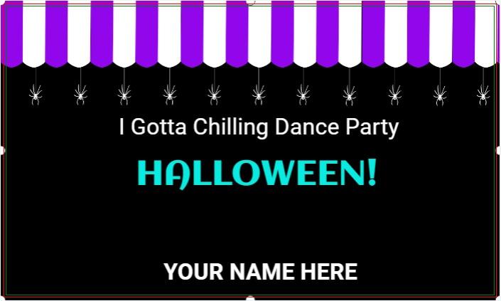 Halloween Dance Party Banner!