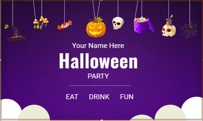 Halloween Eat Drink & Be Scary Banner!