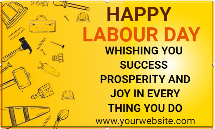 Happy Labour Day Yellow Banner!