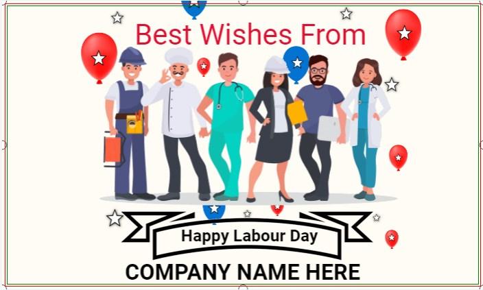 Happy Labour Day White Banner!