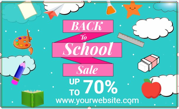 Back To School Sale Customizable Banner!