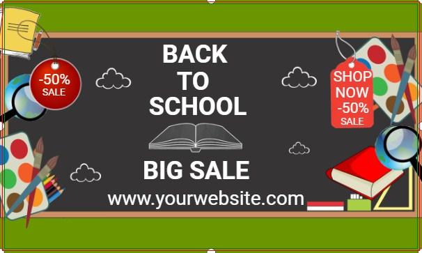 Back To School Sale Chalkboard Banner!