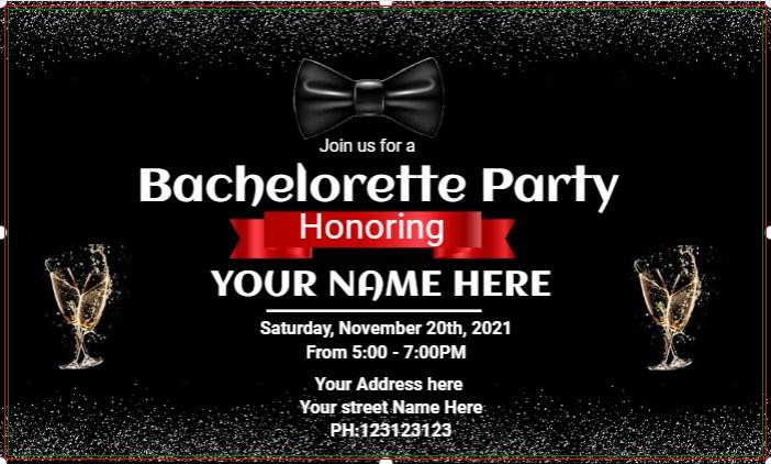 Custom Bachelorette Party Banner!