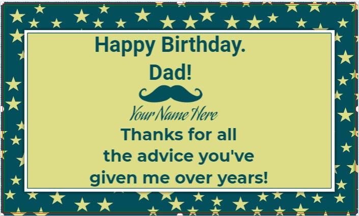 Happy Birthday Dad Banner!