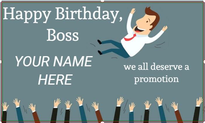 Happy Birthday Boss Banner!