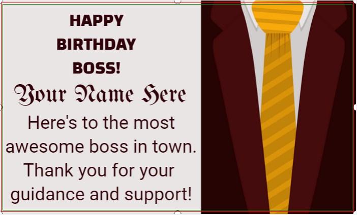 Boss Birthday Banner!