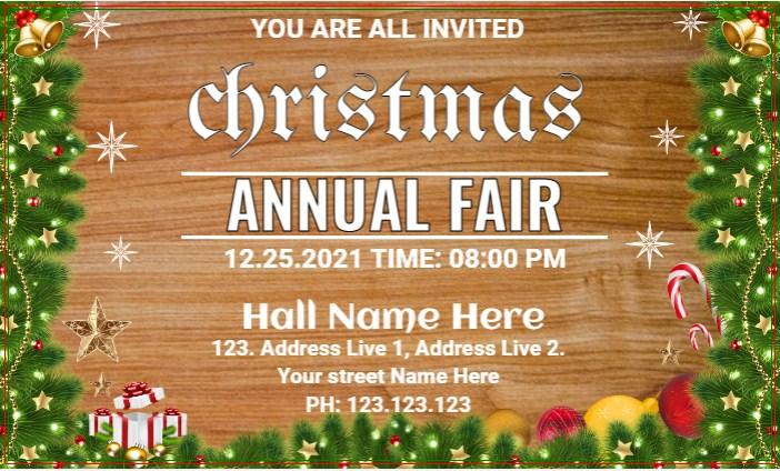 Christmas Annual Fair Banner!