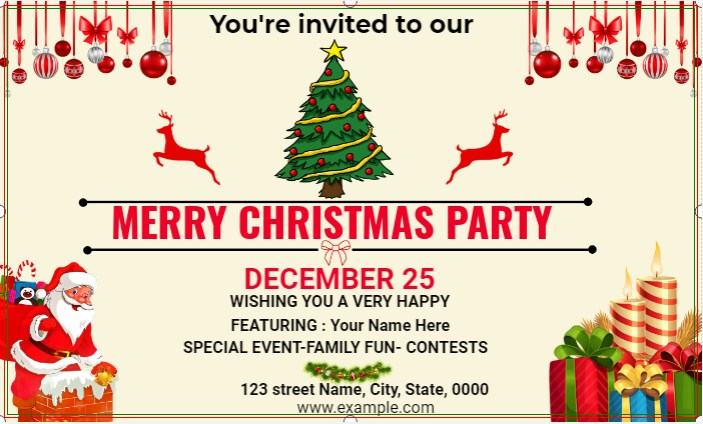 Merry Christmas Party Invited Banner!