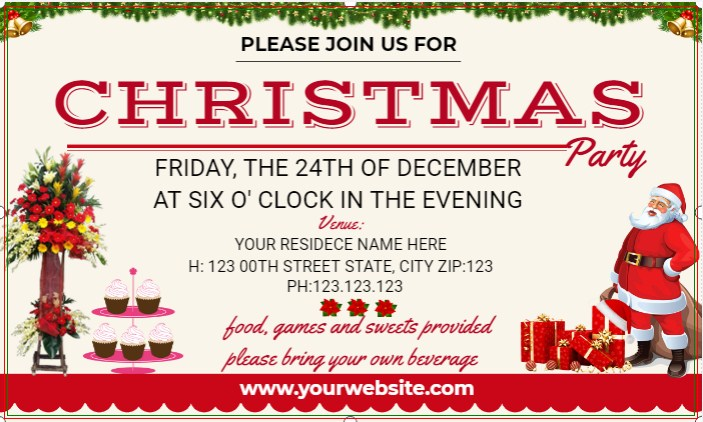 Christmas Party Evening Banner!