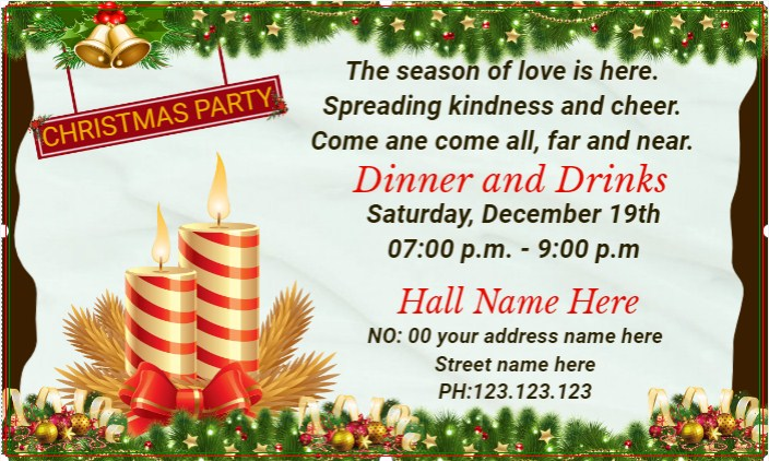 Christmas Party Banner!