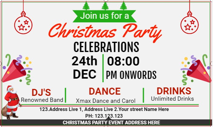 Christmas Party Celebrations Banner!