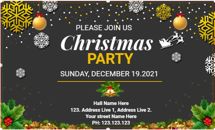 Join Us Christmas Party Banner!