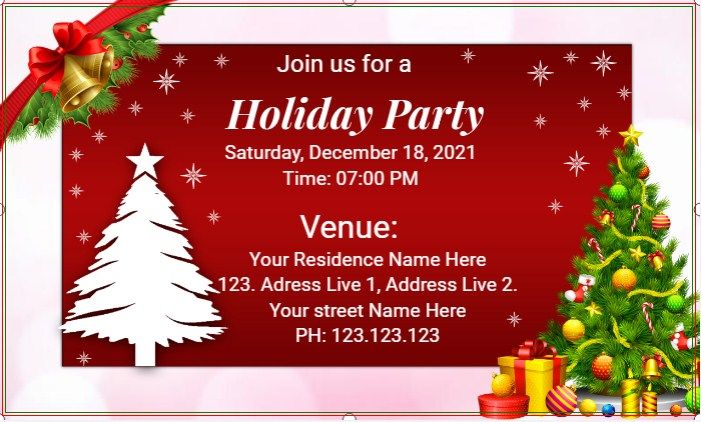 Christmas Holiday Party Banner!