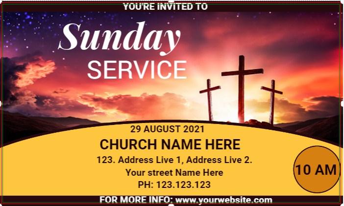 Sunday Service Church Banner!