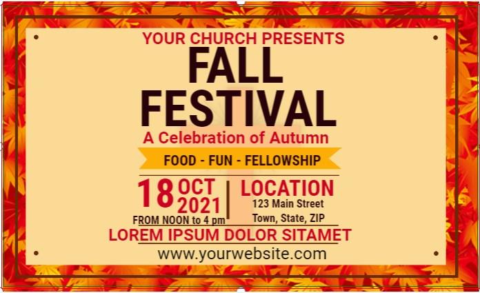 FALL FESTIVAL CHURCH BANNER!