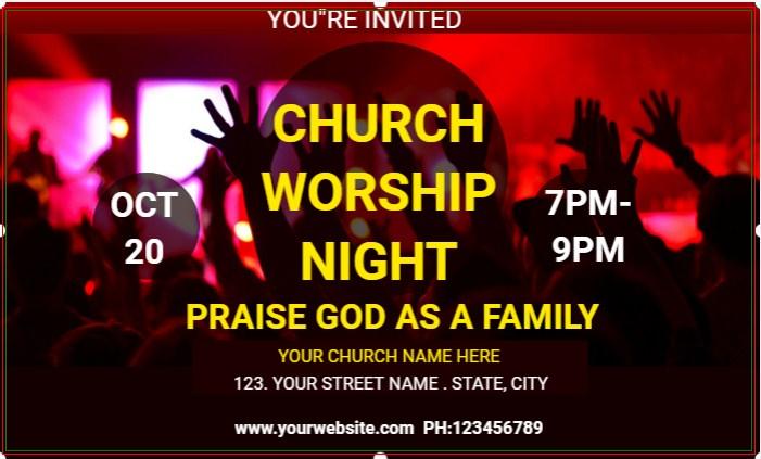 CHURCH WORSHIP NIGHT BANNER!