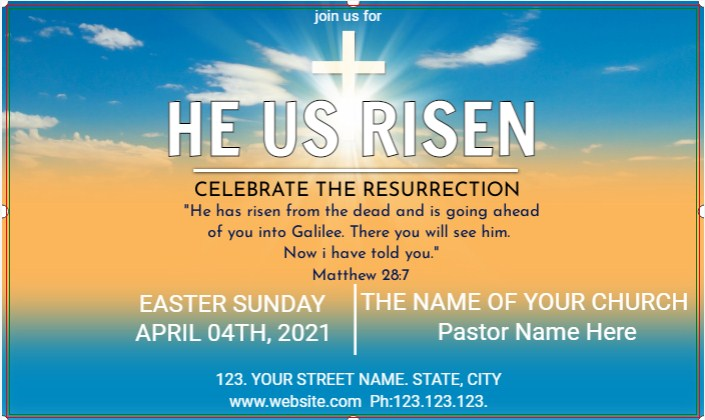 Easter Sunday Banner!