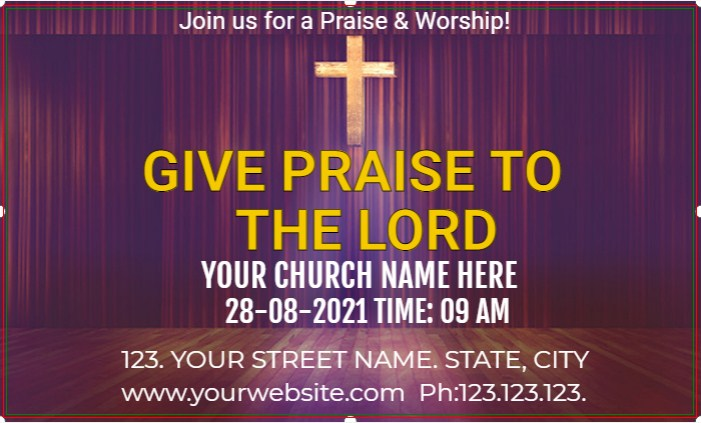 Praise To The Lord Banner!