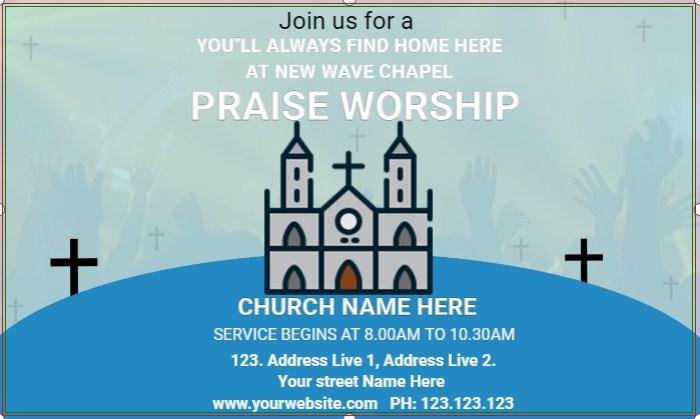 PRAISE WORSHIP CHURCH BANNER!