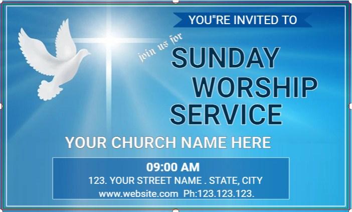 Sunday's Church Worship Banner!