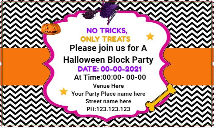 Halloween Block Party Banner!