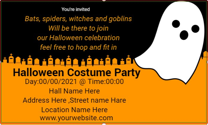 Halloween Costume Party Banner!