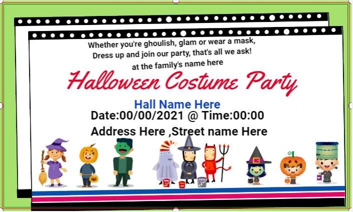 Halloween Costume Banner!