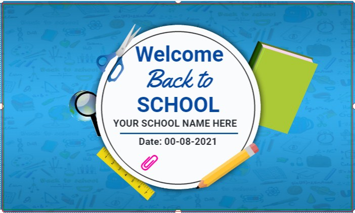 Blue Background Back To School Banner!