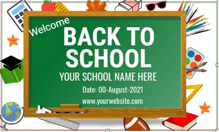 Back To School Chalkboard Banner!