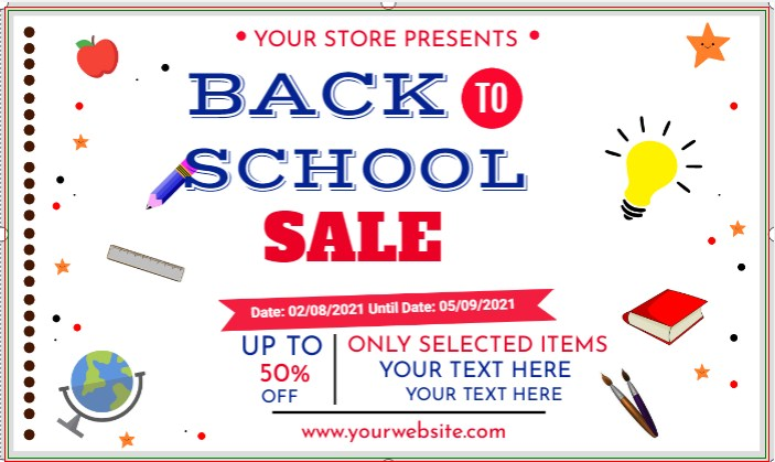 Back To School Sale Banner!